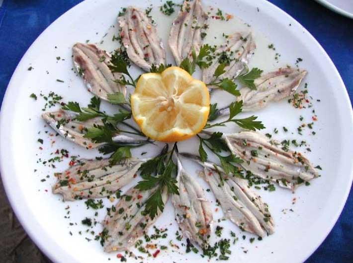 Mandarin anchovies