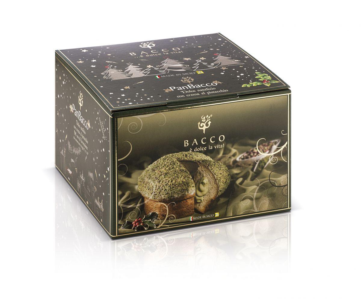 Bacco Panettone Panbacco stuffed with pistachio BCC01 Bacco