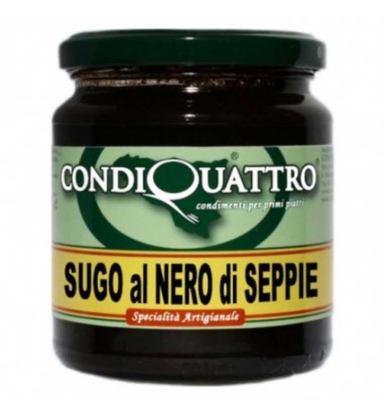 Condiquattro squid ink sauce 280gr CQSN01 Condiquattro