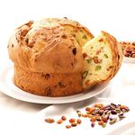 Bacco Panettone Panbacco with raisins and pistachios BCC04 Bacco